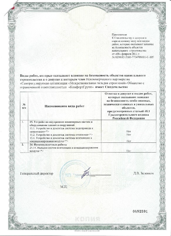 Свидетельство о допуске 2011 год 001